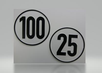 Geschwindigkeits-Aluminiumschild