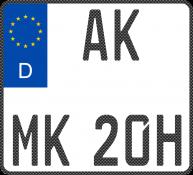Carbon Motorradkennzeichen-Oldtimer