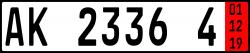 Zoll-Kennzeichen