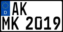 Traktor-Kennzeichen