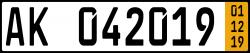 Kurzzeit-Kennzeichen